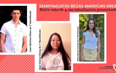 Tres semifinalistas de entre 4.000 estudiantes de toda España para las becas del Programa AMERICAN DREAM 2020