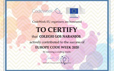 Diploma de participación Codeweek UE