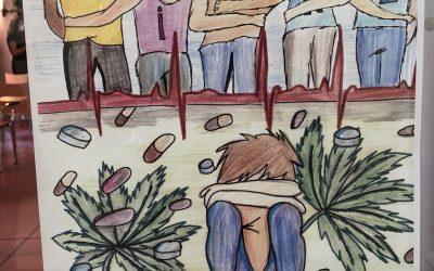 Miguel Angel Esteve Vidal. 2n premi del II Concurs de Cartells «Gandia lliure de drogues»