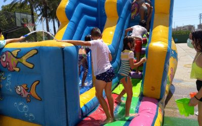 We enjoyed water games this week with a lovely surprise of a bouncy castle with water slide at the end of the week