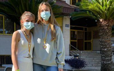 DEPORTISTAS DE ÉLITE: Alicia Tarrazona Moll y Laura Pellicer Suárez. Podio autonómico del RCN Gandía antes del nacional